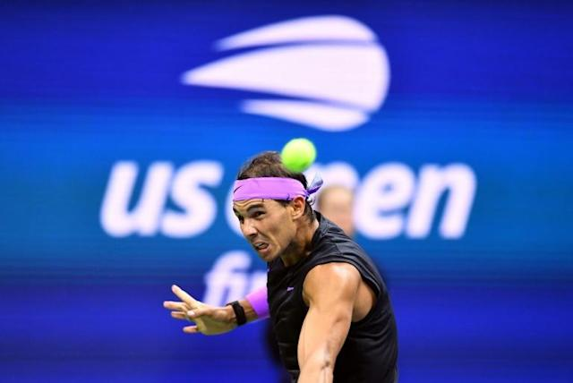 Rafael Nadal is aiming to seal the year-end number one ranking (AFP Photo/Johannes EISELE)