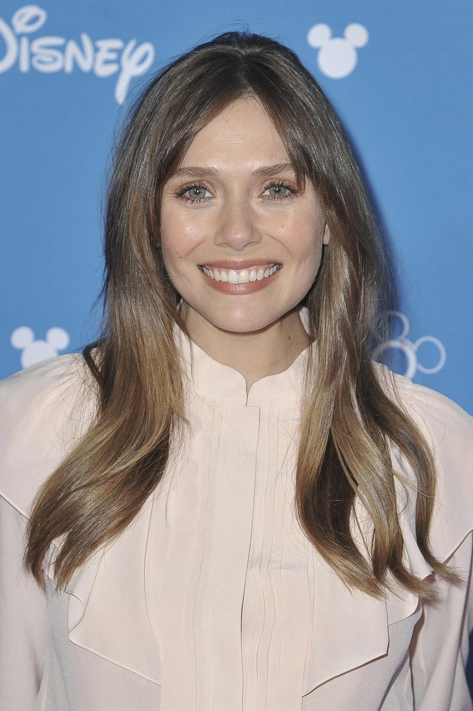 Elizabeth Olsen attends the Disney+ press line at the 2019 D23 Expo on Friday, Aug. 23, 2019, in Los Angeles. (Photo by Richard Shotwell/Invision/AP)