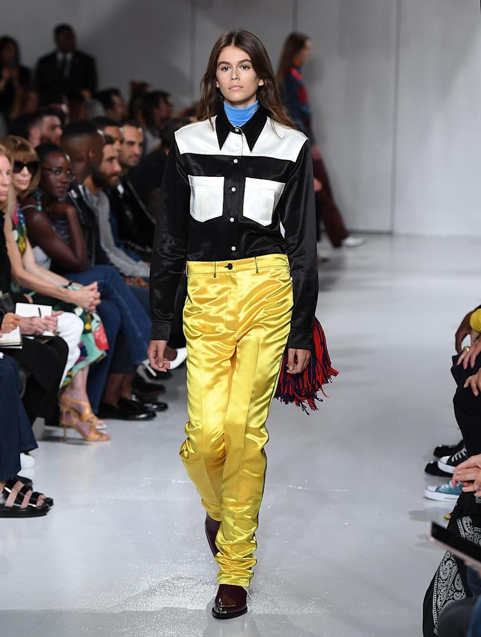 Model Kaia Gerber walks the runway for the Calvin Klein Collection fashion show during New York Fashion Week on Sept. 7, 2017 in New York City. (Photo: Getty Images)