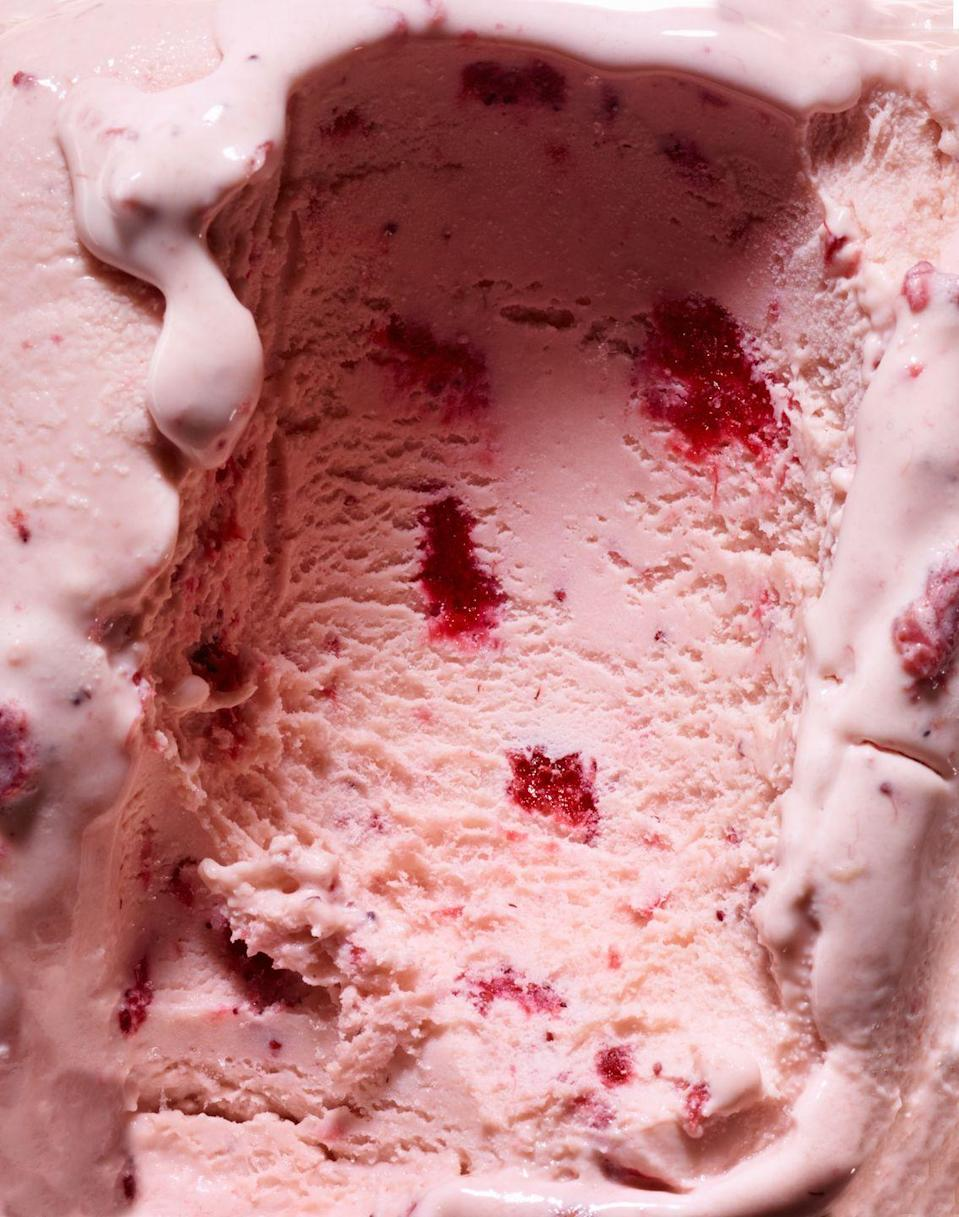 """<p>Strawberry ice cream in the summertime is refreshing, delicious, and hits all the right flavor notes.</p><p><em>Get the recipe from <a href=""""https://www.thepioneerwoman.com/food-cooking/recipes/a11590/strawberry-ice-cream/"""" rel=""""nofollow noopener"""" target=""""_blank"""" data-ylk=""""slk:The Pioneer Woman"""" class=""""link rapid-noclick-resp"""">The Pioneer Woman</a>.</em></p>"""