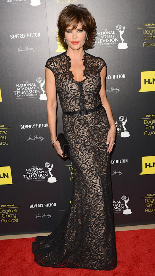 Lisa Rinna arrives at The 39th Annual Daytime Emmy Awards held at The Beverly Hilton Hotel on June 23, 2012 in Beverly Hills, California.