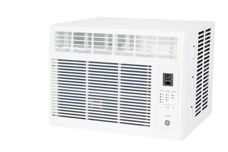"<h3><h2>GE 6000 BTU 115-Volt Room Air Conditioner</h2></h3><br>Hear me out with this one. If you live in an apartment <em>sans</em> central AC, then a window unit can be life-changing with its ability to keep <a href=""https://www.refinery29.com/en-us/best-cooling-sheets-reviews"" rel=""nofollow noopener"" target=""_blank"" data-ylk=""slk:your bedroom cool"" class=""link rapid-noclick-resp"">your bedroom cool</a> while the fan effectively drowns out the majority of street noise.<br><br><em>Shop</em> <strong><em><a href=""https://www.walmart.com/search?query=general+electric"" rel=""nofollow noopener"" target=""_blank"" data-ylk=""slk:General Electric"" class=""link rapid-noclick-resp"">General Electric</a></em></strong><br><br><strong>GE</strong> 6000 BTU 115-Volt Room Air Conditioner, $, available at <a href=""https://go.skimresources.com/?id=30283X879131&url=https%3A%2F%2Fwww.walmart.com%2Fip%2FGE-6000-BTU-115-Volt-Room-Air-Conditioner-with-Remote-for-Rooms-up-to-250-sq-ft-White-AHW06LZ%2F185069912"" rel=""nofollow noopener"" target=""_blank"" data-ylk=""slk:Walmart"" class=""link rapid-noclick-resp"">Walmart</a>"