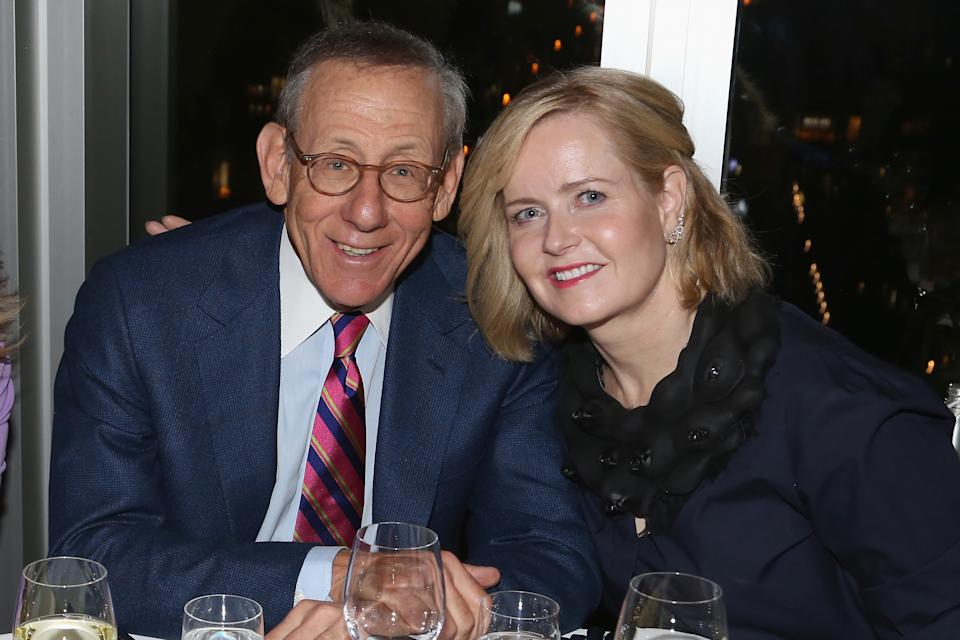 Kara Ross (pictured with Stephen Ross in 2017) has caused a stir in the fashion industry because of her husband's Trump fundraiser. (Photo: Sylvain Gaboury/Patrick McMullan via Getty Images)