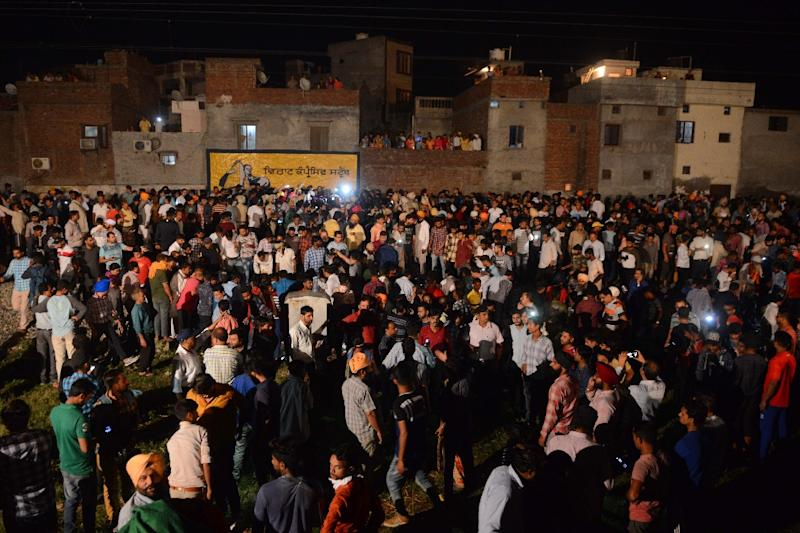 Protests continue at train accident site in Amritsar