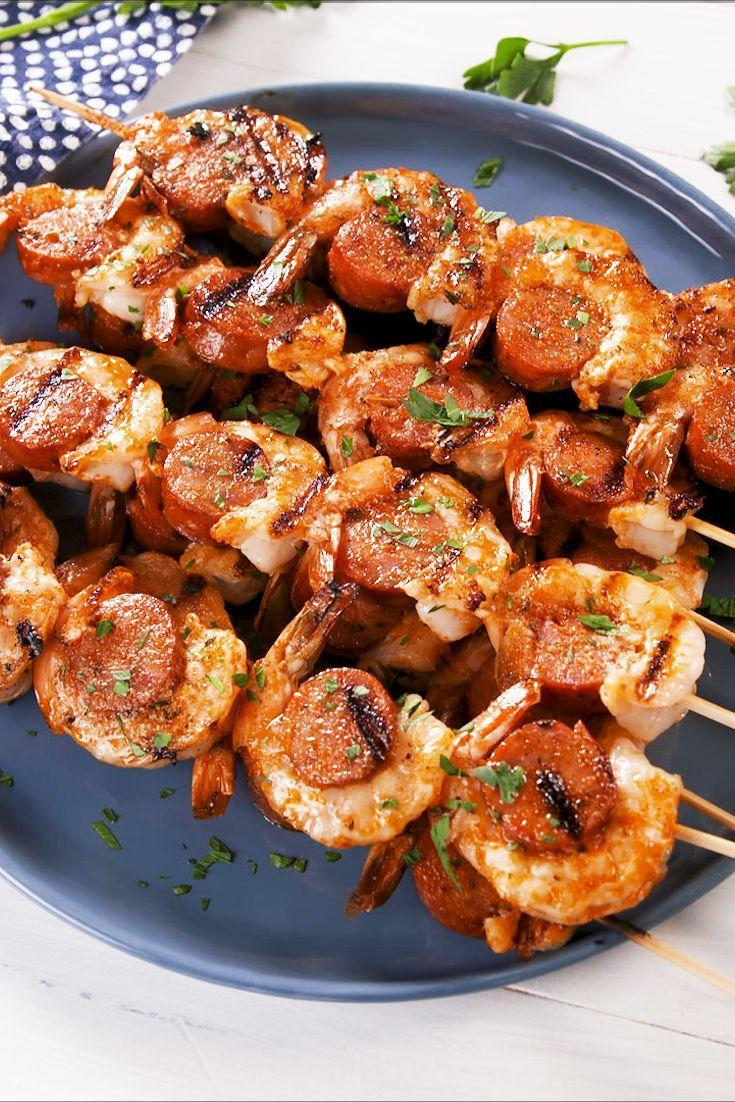 "<p>We'll never be able to get enough of Cajun butter. </p><p>Get the recipe from <a href=""https://www.delish.com/cooking/recipe-ideas/a28576081/cajun-butter-shrimp-sausage-skewers-recipe/"" rel=""nofollow noopener"" target=""_blank"" data-ylk=""slk:Delish"" class=""link rapid-noclick-resp"">Delish</a>. </p>"