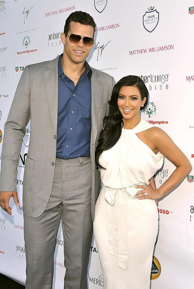 "<p class=""MsoNormal"">Her sister Khloe may have had good luck with a short courtship, but Kim Kardashian didn't. After just six months of dating, NBA player (yep, just like her sister!) Kris Humphries popped the question – with a whopping $2-million, 20.5-carat diamond engagement ring in May of 2011. Three months later, the couple tied the knot on August 20 in a not-so-intimate ceremony in front of cameras, which later aired as a TV special. For as much media attention as their nuptials got, their split just 72 days later garnered even more. ""I don't have a lot of regrets,"" Kardashian said on ""The View"" earlier this month, adding: ""I'm such a different person today."" And that different person quickly moved on to Kanye West. </p>"