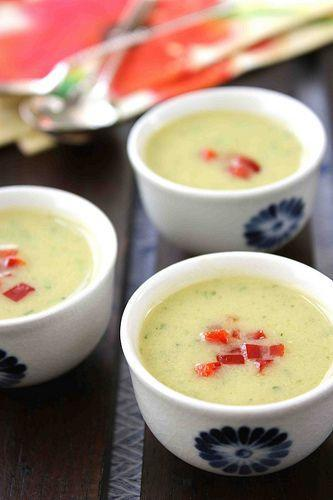 """<p>It may sound slightly unusual, but you'll love the creamy coconut milk and hot jalapeno combination featured in this recipe. </p><p><strong>Get the recipe at <a href=""""http://www.cookincanuck.com/2010/06/creamy-zucchini-coconut-milk-soup/"""" rel=""""nofollow noopener"""" target=""""_blank"""" data-ylk=""""slk:Cookin Canuck"""" class=""""link rapid-noclick-resp"""">Cookin Canuck</a>.</strong></p>"""