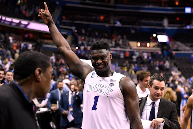 Zion Williamson was the best player in men's college basketball this season, according to the AP. (Getty Images)