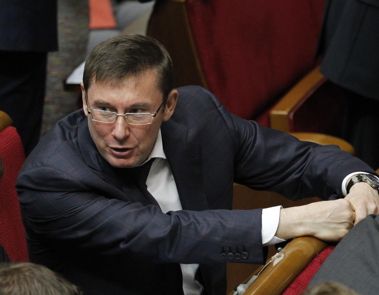 Yuri Lutsenko at a parliamentary session in Kyiv, Ukraine, in 2016. (Photo: Sergei Chuzavkov/AP)