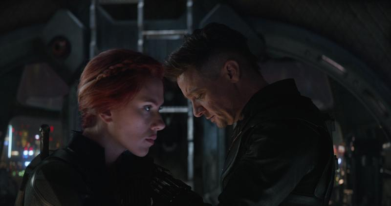 "Scarlett Johansson and Jeremy Renner in ""Avengers: Endgame."" (Photo: Disney)"