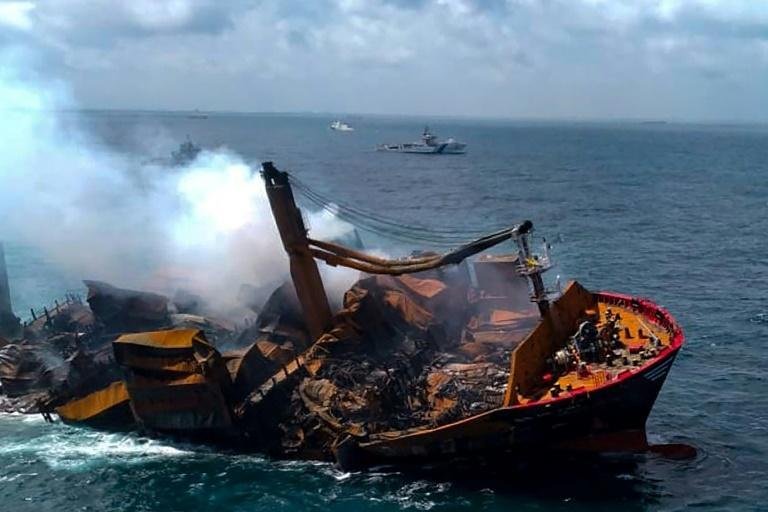 The MV X-Press Pearl was heading to Sri Lanka with hundreds of tonnes of chemicals and plastics on board when it caught fire