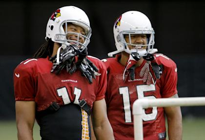 Larry Fitzgerald and Michael Floyd, not such a bad 1-2 receiving combo (AP Photo/Matt York)