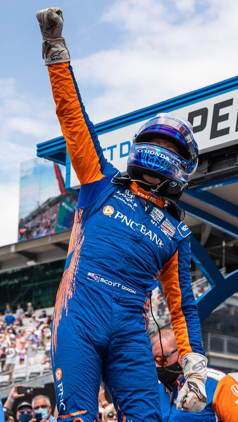 Scott Dixon, who will start on the pole Sunday, won the 2008 Indy 500 and is a six-time IndyCar Series champion.