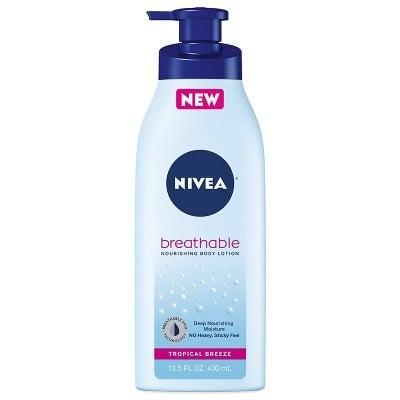 <p>The <span>Nivea Breathable Tropical Breeze Body Lotion</span> ($6) is lightweight but doesn't skimp on the hydration. It's perfect for anyone who hates applying body lotion because of the greasy, sticky feeling products typically leave you with.</p>