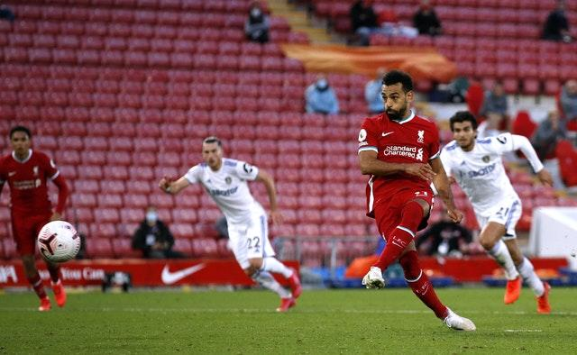 Mohamed Salah twice slotted home from the penalty spot