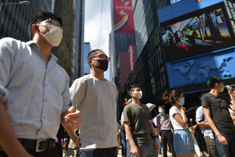 Face masks have been banned in Hong Kong following protests [Photo: Getty]