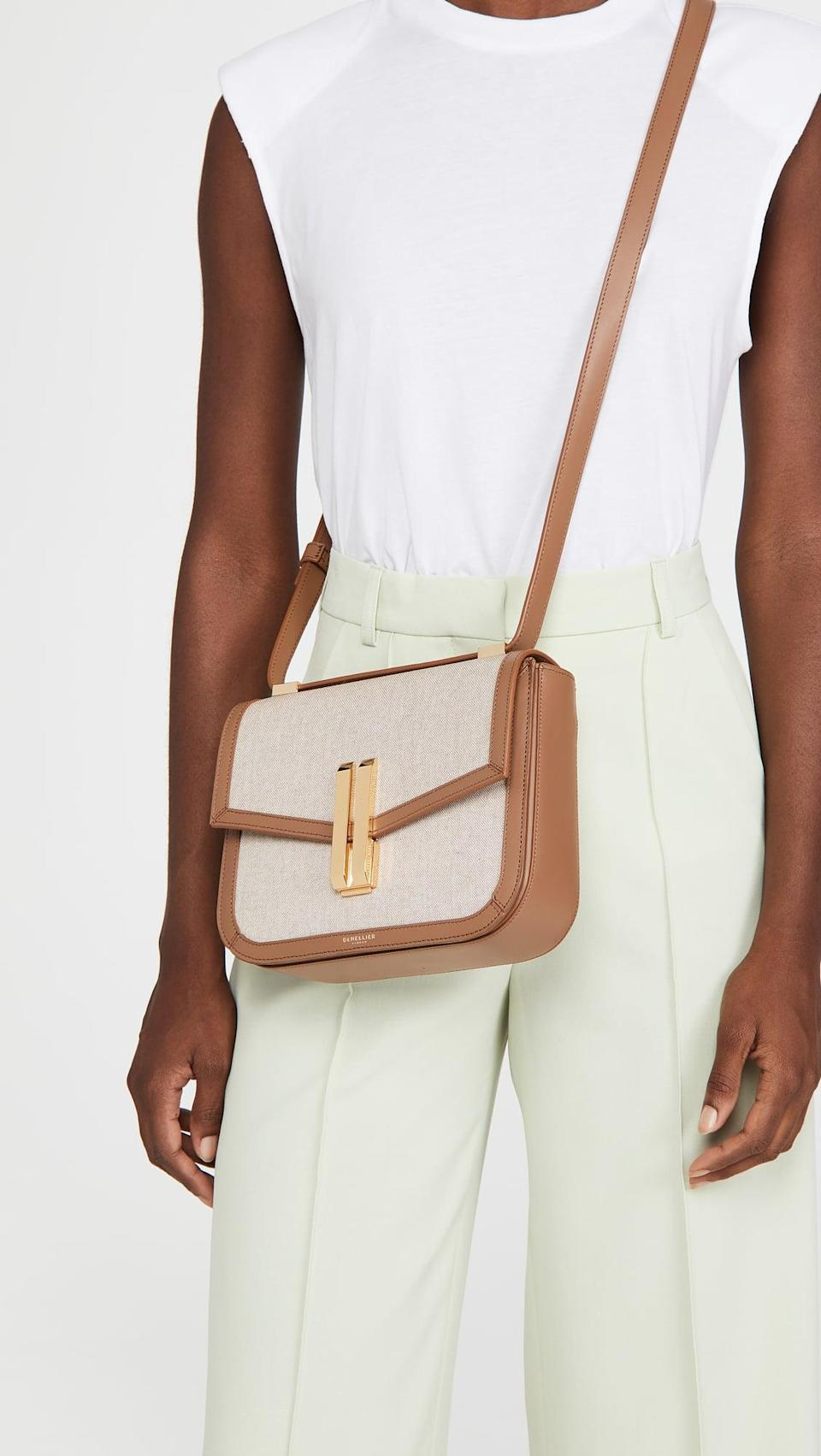 <p>The two-toned design of this <span>DeMellier Vancouver Crossbody</span> ($435) is incredibly chic.</p>