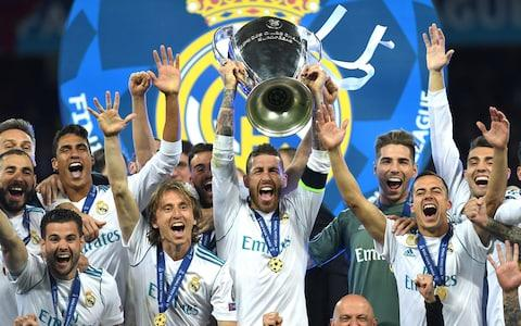 Sergio Ramos lifts Real Madrid's 13th European Cup - Credit: David Ramos/Getty Images