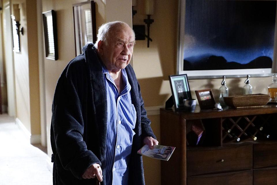 <p>Legendary actor Ed Asner added to SSA Aaron Hotchner's stress when he guest starred as the character's former father-in-law, Roy Brooks. While he has been diagnosed with Alzheimer's disease, he does remember enough to still blame Hotch for the death of his daughter at the hands of a serial killer he was investigating. </p>