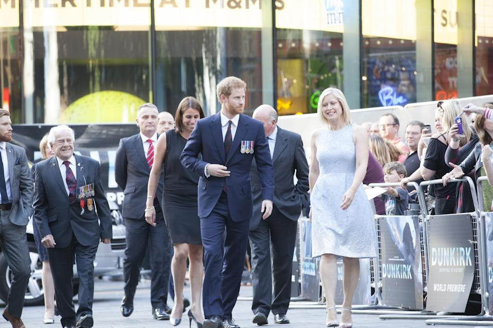 <p>Prince Harry arriving in London's Leicester Square (WB) </p>