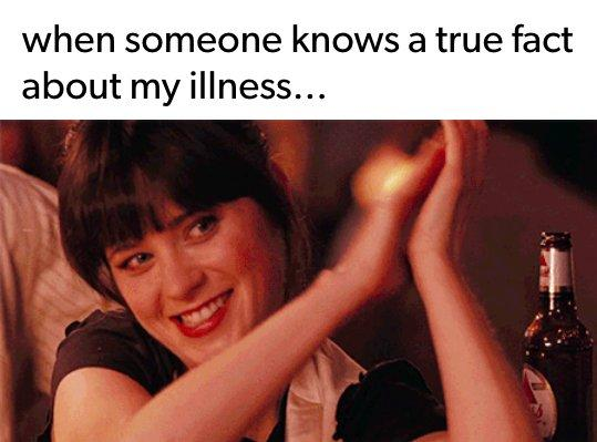 when someone knows a true fact about my illness... photo of woman clapping