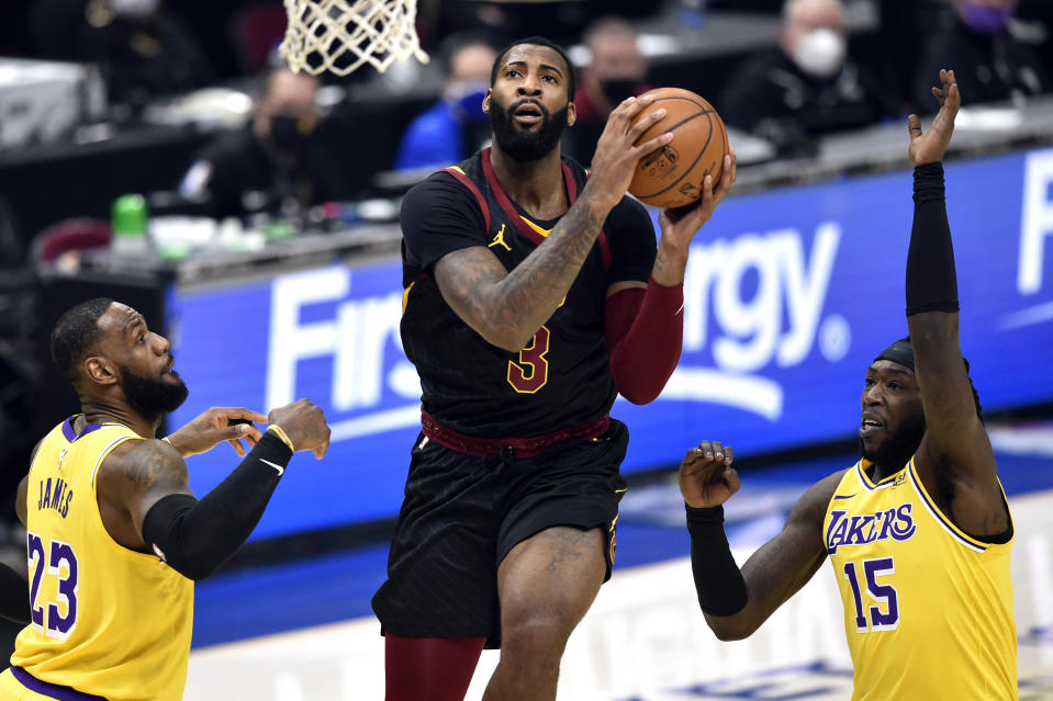 Andre Drummond gives the Lakers a strong option in the paint. (David Richard-USA TODAY Sports)
