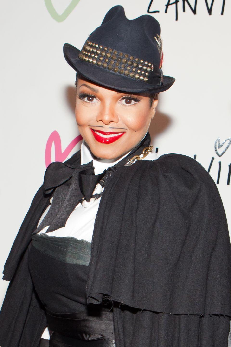 <p>In 2010, the icon opted for a fake mustache and cape for the Halloween Extravaganza at Lanvin Boutique. </p>