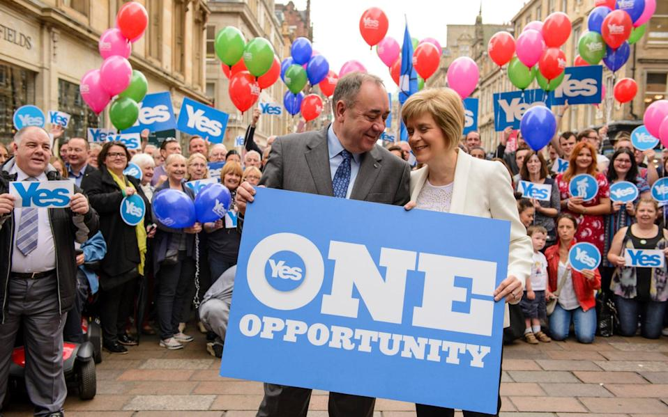 Alex Salmond and Nicola Sturgeon described the 2014 referendum as a once in a generation event - David Gordon/Alamy Stock Photo