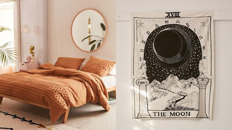 Get up to 40% off select bedding, furniture, tapestries, and more at Urban Outfitters right now.
