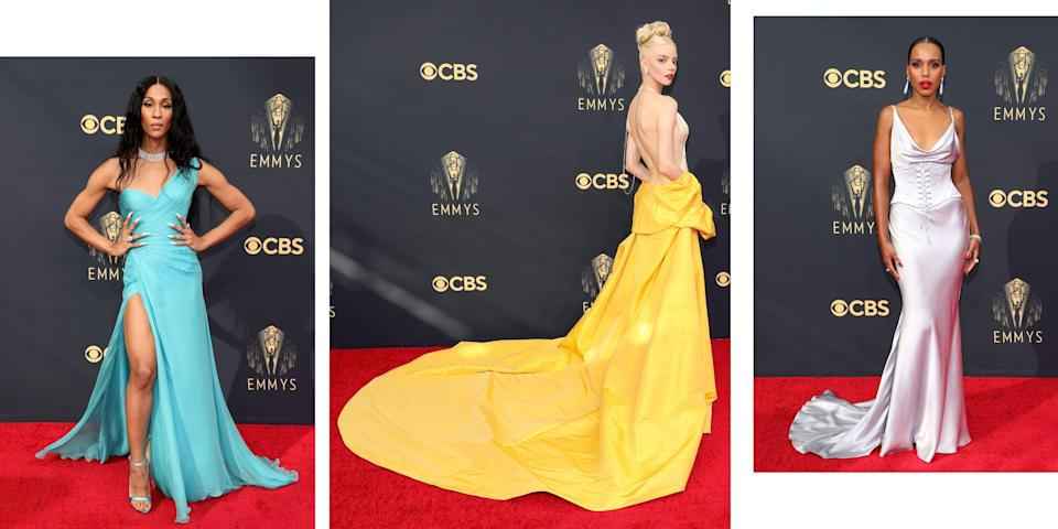 """<p class=""""body-dropcap"""">After a year of no red carpets, the Emmy Awards have returned to celebrate the best of the small screen. From the stars of <em>The Queen's Gambit</em><em>, </em><em>Pose, </em><em>The Crown, </em>and more, here's who had our jaws dropping at the return of TV's biggest night. <br></p>"""