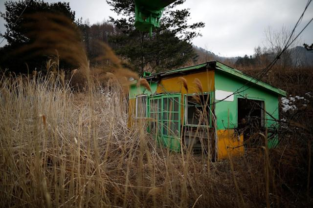 <p>An operation room for ski lifts is seen at the abandoned Alps Ski Resort located near the demilitarized zone separating the two Koreas in Goseong, South Korea, Jan. 17, 2018. (Photo: Kim Hong-Ji/Reuters) </p>
