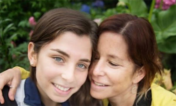 Amy Krouse Rosenthal and her daughter Paris.