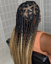 Triangle box braids are exactly what you think they are: Instead of having the parts of the hair form a square, they form a triangle instead. It might take some thinking and skill on your stylist's part but the results—as you can see—are worth it.