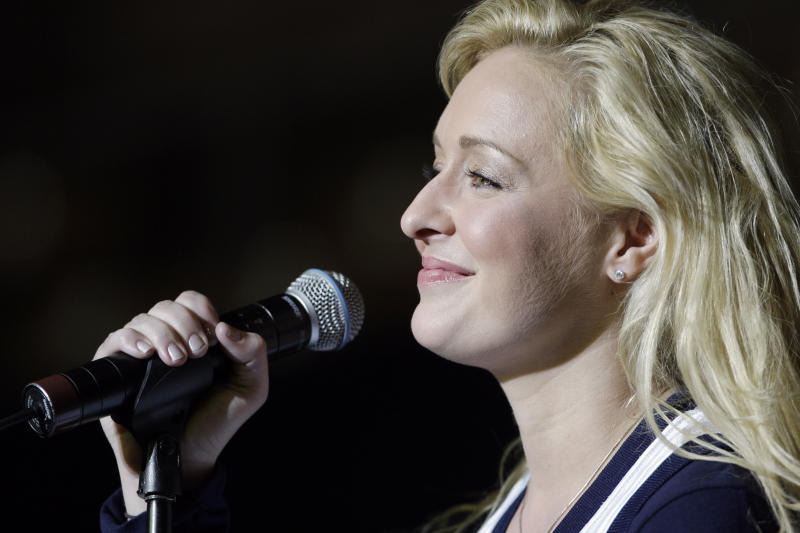 FILE - In this undated file photo, country singer Mindy McCready performs in Nashville, Tenn. McCready, who hit the top of the country charts before personal problems sidetracked her career, died Sunday, Feb. 17, 2013. She was 37. (AP Photo/Mark Humphrey, File)