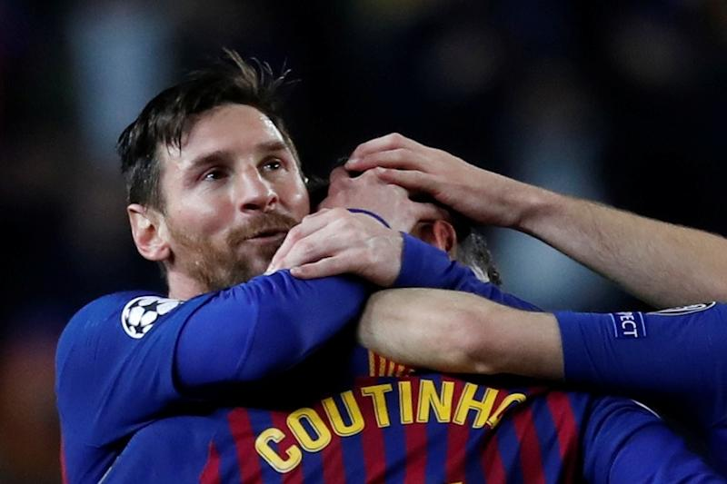 Lionel Messi-Philippe Coutinho-Reuters