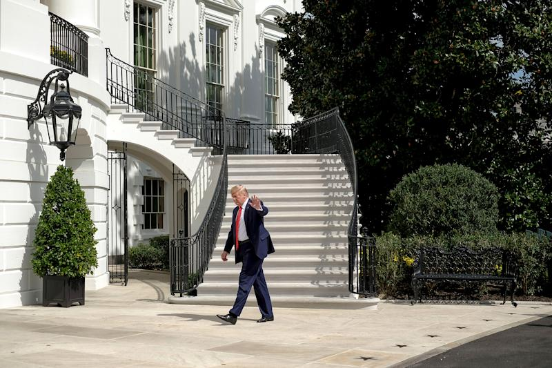 President Donald Trump arrives at the White House in Washington, D.C. on Sept. 26, 2019. | Gabriella Demczuk for TIME