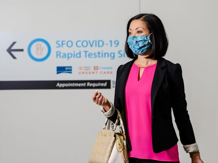 SFO United Airport coronavirus test