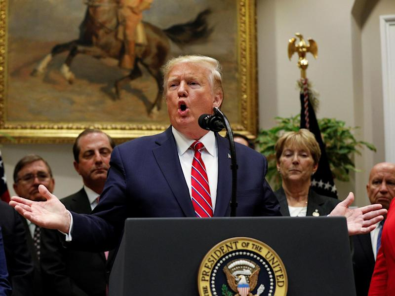 Trump delivers remarks on honesty and transparency in healthcare prices at the White House on Friday: Reuters