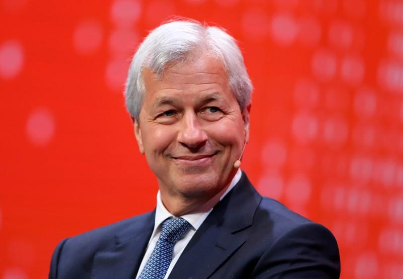 FILE PHOTO: Jamie Dimon, Chairman and CEO of JPMorgan Chase & Co. speaks during the Milken Institute Global Conference in Beverly Hills, California