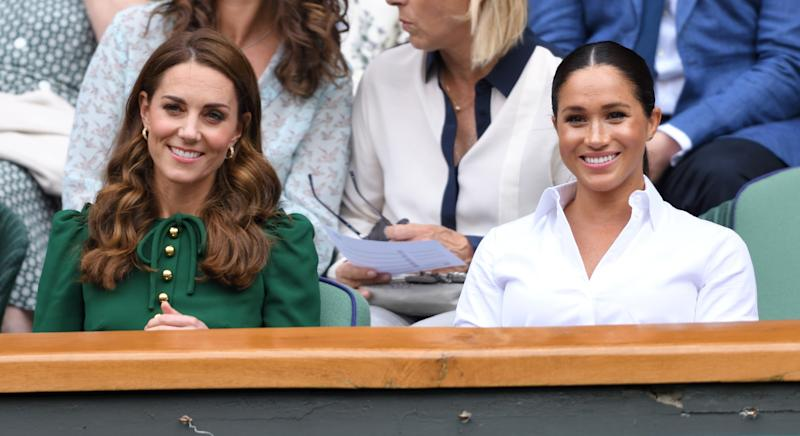 The Duchesses of Cambridge and Sussex attended Wimbledon last weekend together [Image: Getty]