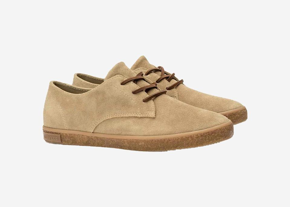 "The timeless look of SeaVees' Sun-Tan Bucks comes from the 1960s military khakis that inspired them. The contoured footbed with extra heel absorption provides a snug fit and comfort, while the cooling system and perforations allow for airflow and the recycled natural rubber outsole provides extra grip. And with an extra-soft suede upper, these shoes are ready for everything from beach escapes to city adventures. $130, Seavees. <a href=""https://www.seavees.com/collections/mens-new-arrivals/products/mens-sun-tans-buck-sandstone-suede"" rel=""nofollow noopener"" target=""_blank"" data-ylk=""slk:Get it now!"" class=""link rapid-noclick-resp"">Get it now!</a>"