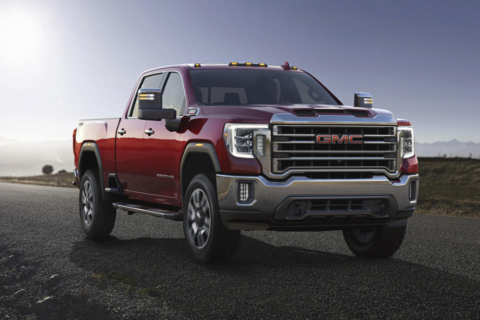 This undated photo provided by General Motors shows the 2020 GMC Sierra HD, the newest generation of GMC's heavy-duty truck. (General Motors via AP)