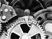 """<a href=""""http://movies.yahoo.com/movie/modern-times/"""" data-ylk=""""slk:MODERN TIMES"""" class=""""link rapid-noclick-resp"""">MODERN TIMES</a> (1936) <br> Directed by: <span>Charlie Chaplin</span> <br>Starring: <span>Charlie Chaplin</span> and <span>Paulette Goddard</span>"""