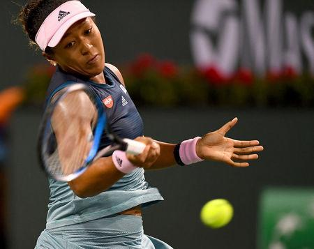 FILE PHOTO: Mar 12, 2019; Indian Wells, CA, USA; Naomi Osaka (JPN) as she was defeated in her fourth round match against Belinda Bencic (not pictured) in the BNP Paribas Open at the Indian Wells Tennis Garden. Mandatory Credit: Jayne Kamin-Oncea-USA TODAY Sports