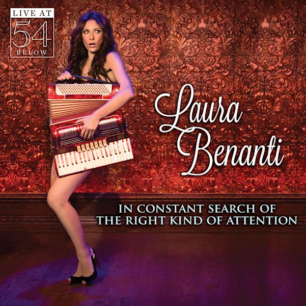 "This CD cover image released by Broadway Records shows ""In Constant Search of The Right Kind of Attention,"" by Laura Benanti. (AP Photo/Broadway Records)"
