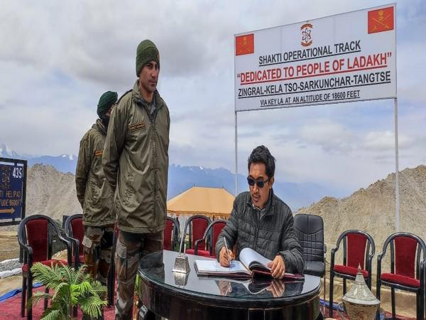 Ladakh MP inaugurates road at 18600 ft was constructed by Indian Army (Photo/ANI)
