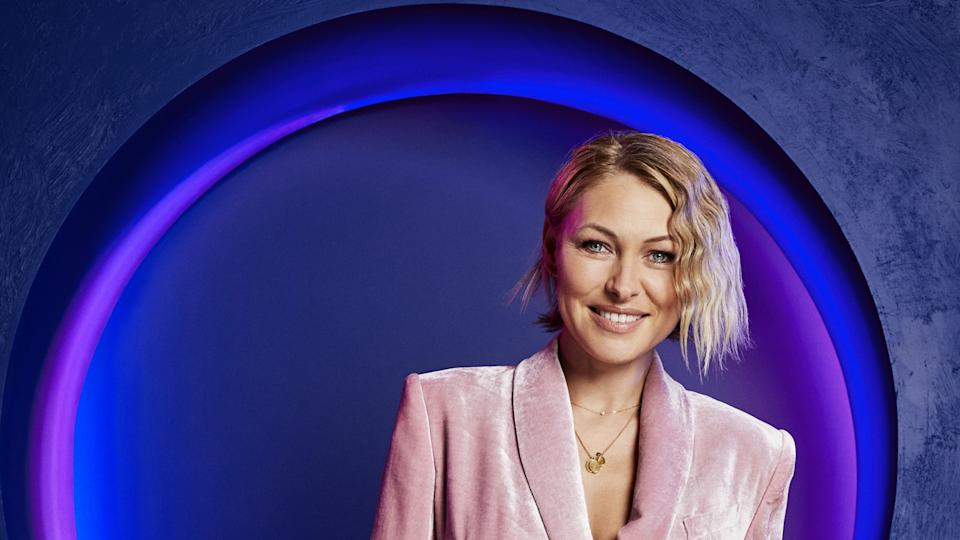 Emma Willis hosts 'The Circle'. (Channel 4)