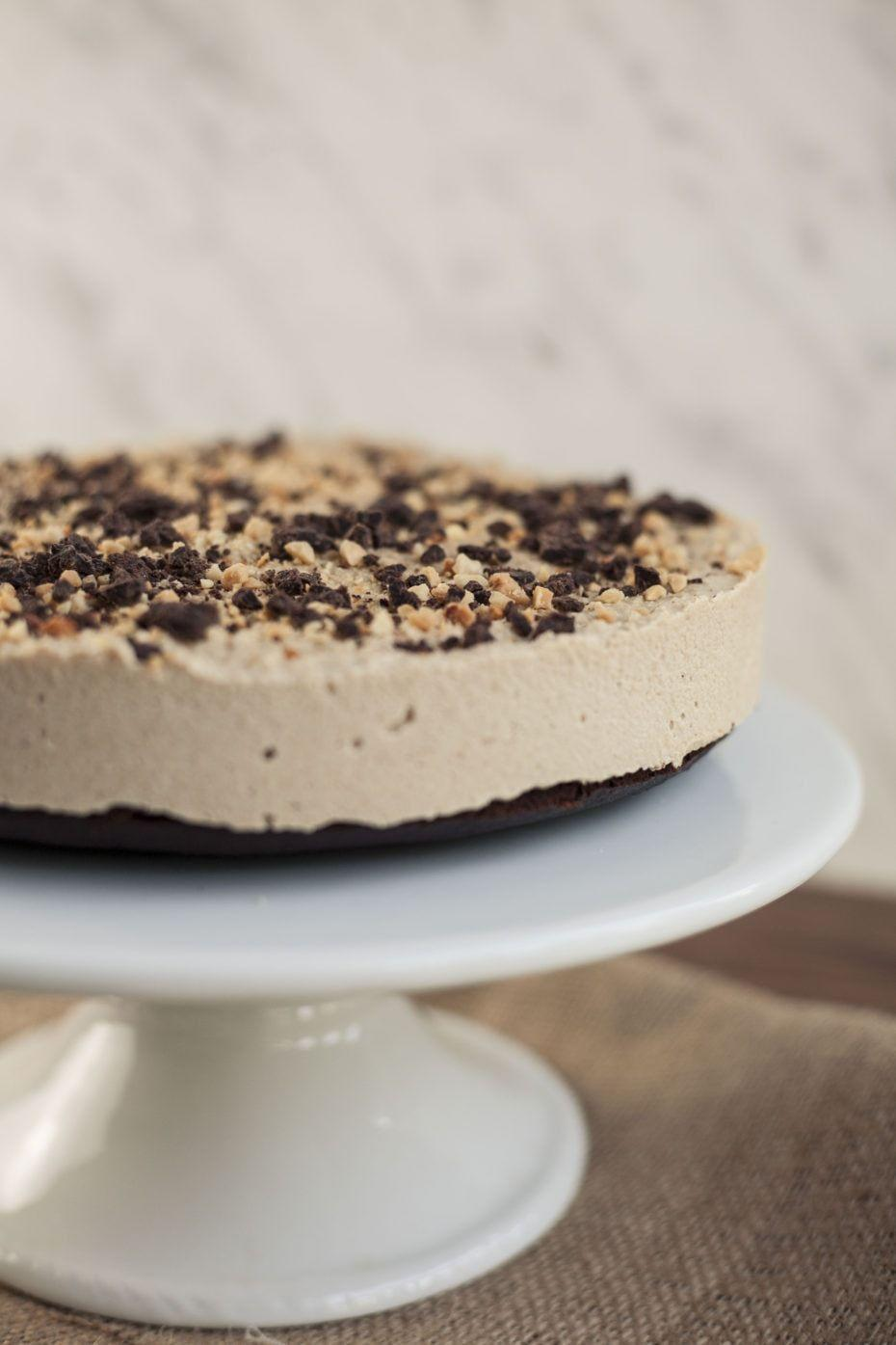 """<p>Do I need to say anything more than SNICKERS? I didn't think so. </p><p><a class=""""link rapid-noclick-resp"""" href=""""https://mypureplants.com/caramel_cheesecake"""" rel=""""nofollow noopener"""" target=""""_blank"""" data-ylk=""""slk:GET THE RECIPE"""">GET THE RECIPE</a></p><p><em>Per serving: 348 calories, 31 g fat (17 g saturated), 16 g carbs, 14 mg sodium, 5 g sugar, 2 g fiber, 7 g protein</em></p>"""