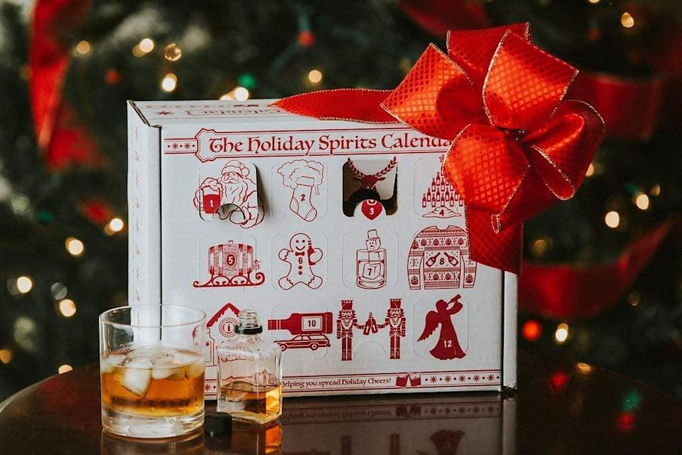 """<p>Advent calendars aren't just for kids anymore, as is evidenced by all the <a href=""""https://www.popsugar.com/smart-living/best-advent-calendars-on-amazon-46828701"""" class=""""link rapid-noclick-resp"""" rel=""""nofollow noopener"""" target=""""_blank"""" data-ylk=""""slk:adult advent calendars"""">adult advent calendars</a> we found. Customize this <span>Advent Calendar For Alcohol</span> ($20) with whatever spirits you wish.</p>"""