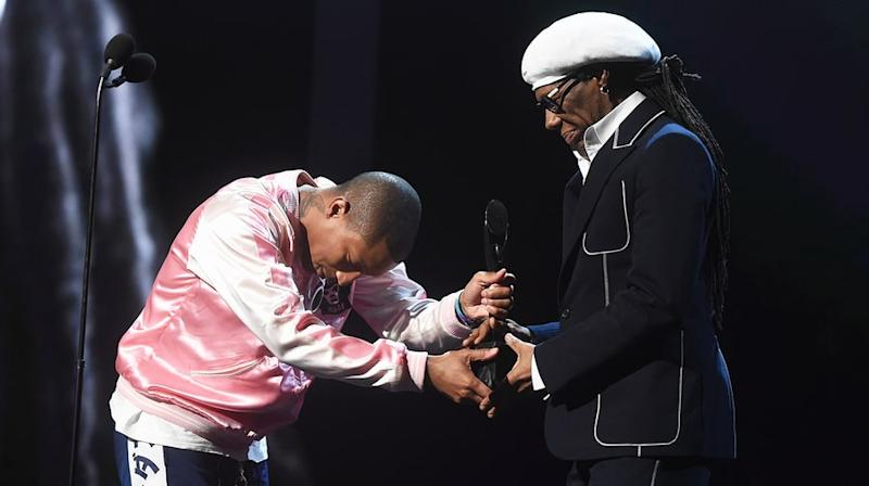 Watch Pharrell's Reverent Nile Rodgers Tribute at Rock and Roll Hall of Fame